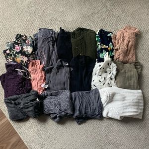 Lot of long sleeve shirts